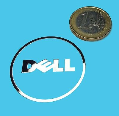 DELL  METALISSED CHROME EFFECT STICKER LOGO AUFKLEBER 35mm [526]