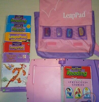 Leap Frog LeapPad Electronic Learning System - 6 Books, 1 Working Cartridge