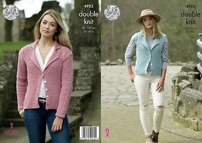 KINGCOLE 4923 ADULT DK KNITTING PATTERN  32-42 IN -not the finished garments