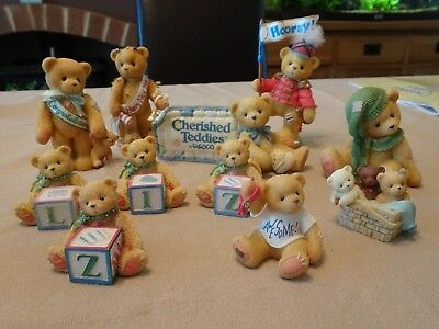 Cherished Teddies - A lot of 11 Figures