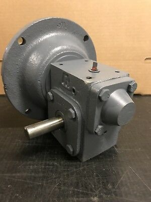 Hub City Reducer Right-Angle Worm Gearbox 134 50:1 Ratio RH Output Shaft 56C