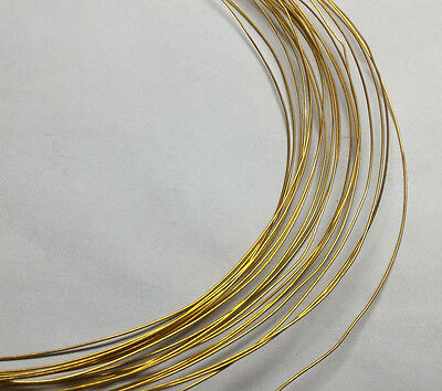 [Must-have] 24 gauge 0.5mm SOFT SOLID BRASS BEADING WIRE FINDING JEWELRY (12ft)