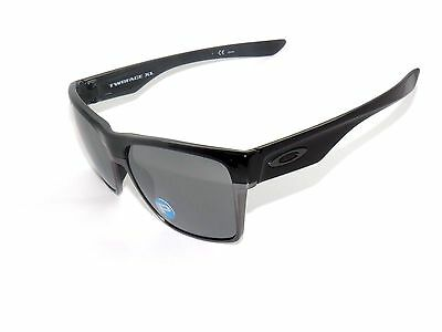 9405bff7188 OAKLEY TWO FACE XL 9350-01 POLISHED BLACK BLACK IRIDIUM POLARIZED SunglasseS