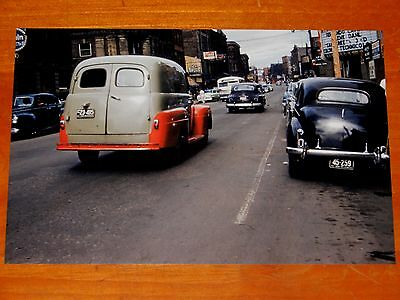 8x12 PHOTO 1949 1950 1951 FORD OR MERCURY PANEL TRUCK OLD CARS 1952 MONCTON NB