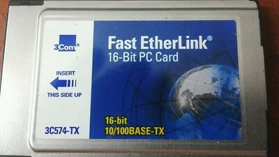 Pcmcia 10/100 card 3cs74-tx
