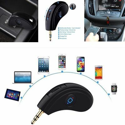 HK008 Wireless Portable Bluetooth V3.0 Receiver Car3.5MM Audio Handsfree Adapter