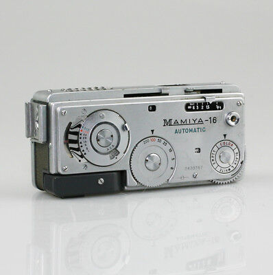 MAMIYA-16 Automatic 16mm Sub-miniature Spy Camera w/ 1:2.8/f=25mm Lens (NZ130)