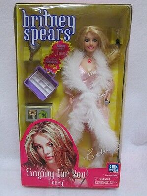 BRITNEY SPEARS Doll Celebrity Singing For You LUCKY 2000 pink fur BOX Yaboom HTF