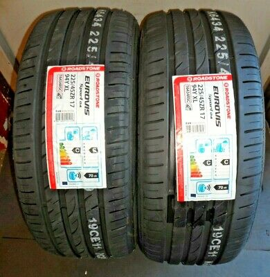 """Roadstone Eurovis Sport04 XL 225 45 17 QUALITY TYRES BY NEXEN X 2 """"A"""" Rated Grip"""