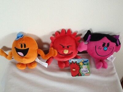 Official Mr Men And Little Miss Mr Tickle, Little Miss Bad & Little Miss Scarey