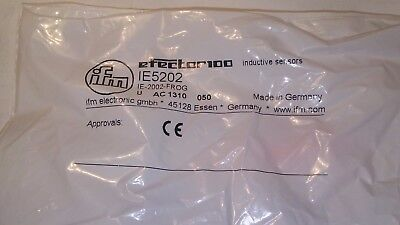 New Sealed In Plastic Efector Inductive Proximity Sensor Ie5202 Ie-2002-Frog