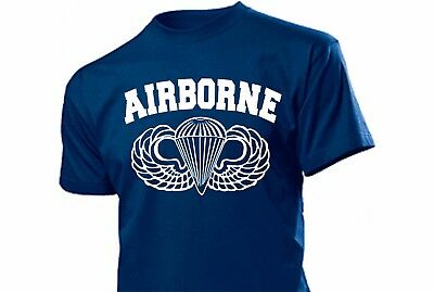 T-Shirt Airborne Paratrooper WH WK2 WWII US Army Ranger Wings Seals WK2 Gr S-XXL