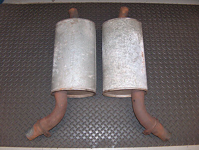 Used Genuine 1972 Chevy Corvette GM OEM Pace Setter Dual Exhaust Muffler Pair