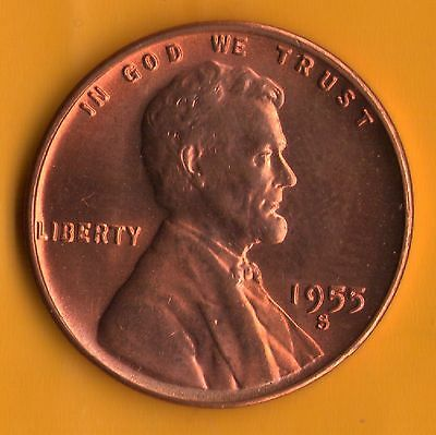 1955 S ***BU Penny***SELL-OFF***OBW Roll Coins*** (55S1010)