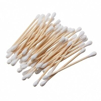 Disposable Double Tip Swab Cotton Ear Buds, Wooden Budds 100 to 800 pcs Fre Ship