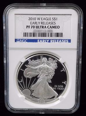2010-W NGC PF70 Ultra Cameo American Silver Eagle Early Releases