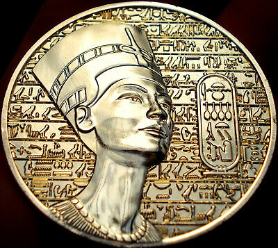 Gold of Egypt Coin/Medal Egyptian gods-Horus-Isis Gift - Pharaoh Nefertiti queen