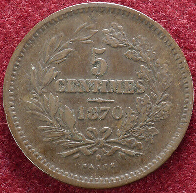 Luxembourg 5 Centimes 1870 (C1802)