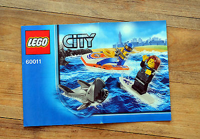 INSTRUCTION Manual ONLY - LEGO City 60011 Surfer Rescue NEW