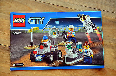 INSTRUCTION Manual ONLY - LEGO City 60077 Space Starter Set NEW 2015