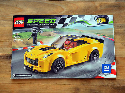 INSTRUCTION Manual ONLY - LEGO Speed Champions 75870 Chevrolet Corvette Z06 NEW