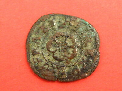 King Charles I Farthing Coin - Rose / Crown