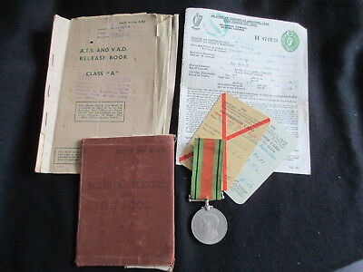 "WW2 Medal Female. ""ATS"" Maureen Sullivan. Army Pay book. ATS & VAD Release Book"