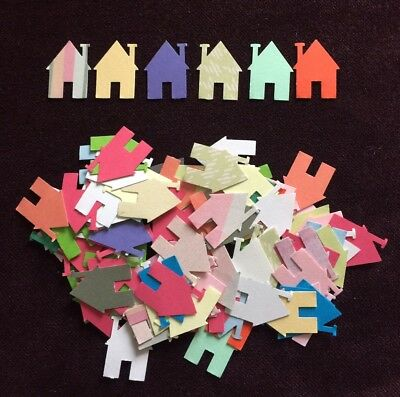 Hand Punched Craft Paper House New Home Die Cut, Cardmaking, Scrapbook, Confetti