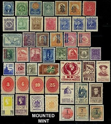 Mexico, 49 different mounted and 11 unmounted mint stamps