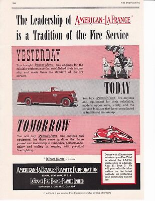 AMERICAN LaFRANCE A TRADITION IN TH FIRE SERVICE  1943 AD               7126