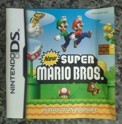 Instruction Booklet/manual for New Super Mario Bros Nintendo DS (BOOK ONLY) VGC.