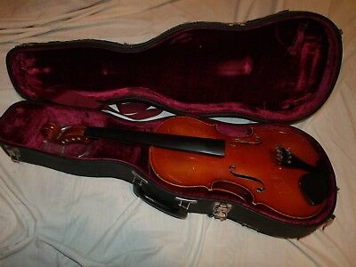 "16"" Scherl & Roth R403E16  Viola  minor project needs pegs 1 rib crack W-Wide"