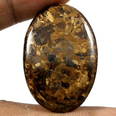 36.05 cts Natural Top Quality Peter Jade Bronzite Gemstone Oval Loose Cabochon