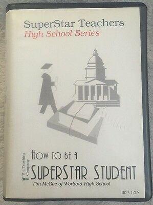 THE TEACHING COMPANY SUPERSTAR STUDENT HIGH SCHOOL SERIES  VHS Tape 1 & 2