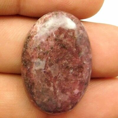43.25 cts Natural Untreated Beautiful Rhodonite Gemstone Oval Loose Cabochon