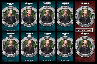 Topps The Walking Dead Card Trader MERIDIAN Rick Grimes Red 2x & Blue 8x