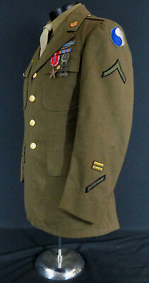 "WWII US 29th ""BLUE-GRAY"" DIVISION SOLDIER'S COAT - SHIRT, TIE & MORE *EXCELLENT*"
