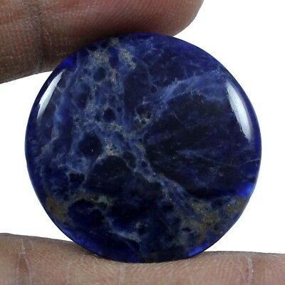 21.30 cts Natural Sodalite Loose Gemstone Beautiful Quality Round Shape Cabochon