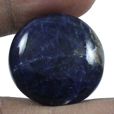 21.60 ct 100% Natural Elegant Sodalite Round Loose Gemstone Cabochon For Jewelry