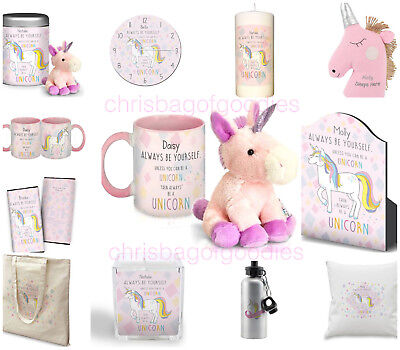 PERSONALISED Pretty Pink UNICORN Gifts Presents for Her Birthday Christmas Ideas