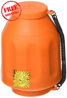 New Smoke Buddy Personal Air Purifier Cleaner Filter Removes Odor - Orange
