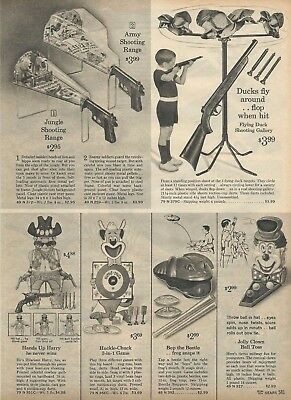 1965 Xmas cat pg Hands Up Harry Huckle Chuck Jungle Range Dart Gun Game