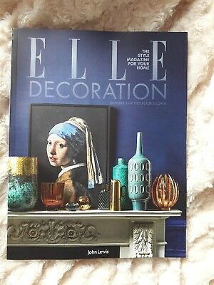 Elle Decoration magazine issue #302 October 2017 *Collectors Cover John Lewis*