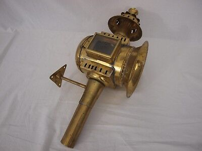 Large Brass Horse Carriage Coach Lamp - oil powered - includes bracket (CB2)