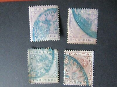 Used Qv Stamps From Malta To 1/-