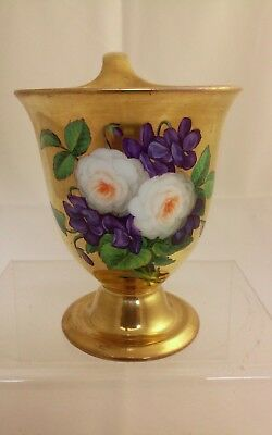 KPM Berlin Russian Empire Gilded Cup with Important Flower Decoration