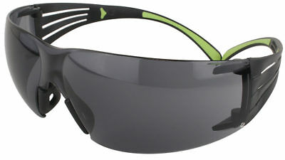 b96aeb767125 3M SecureFit Safety Glasses with Black/Lime Temples and Gray Anti-Fog Lens