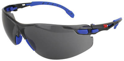 3M Solus Safety Glasses with Blue Temples and Gray Anti-Fog Lens