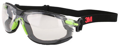 3M Solus Safety Goggles with Clear Anti-Fog Lens and Foam & Strap