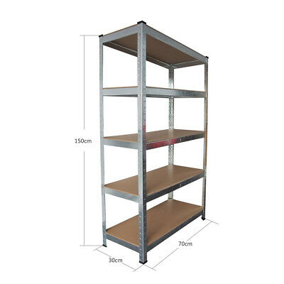 Industrial 4/5 TIER Shelving Unit Heavy Duty Metal Storage Shelves Rack Garage